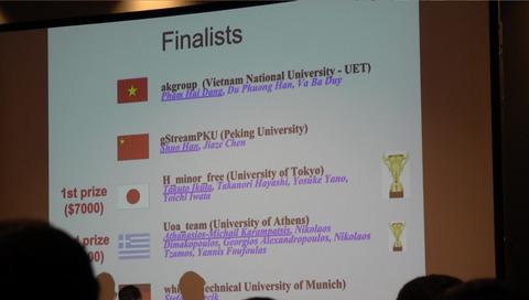 SIGMOD Programming Contest 2016 優勝