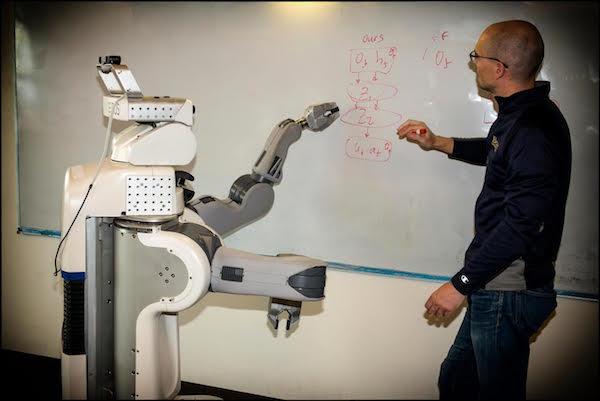 Pieter teaches PR2 robot