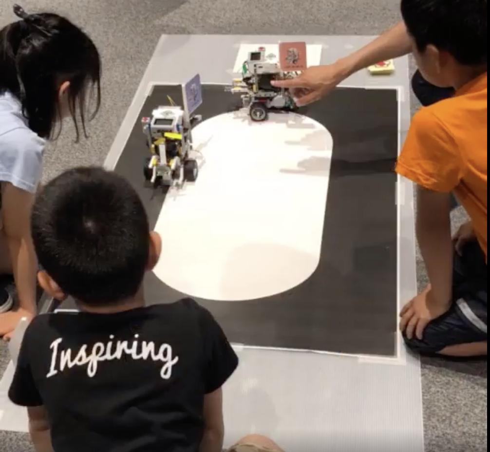 小学生向けディープラーニング体験教室でロボットカーの授業をしました。