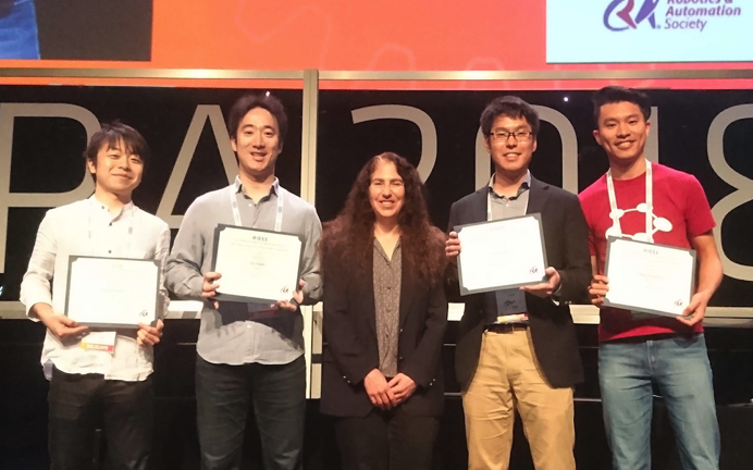 ICRA 2018 Best Paper Award on Human-Robot Interaction (HRI)