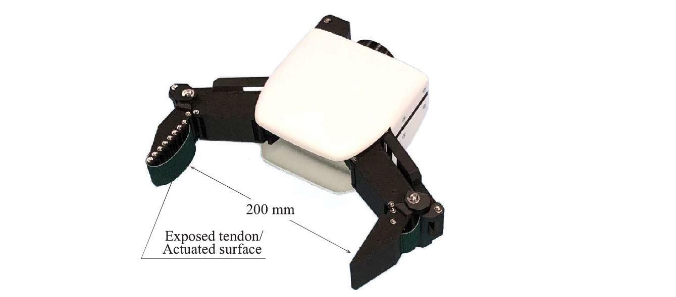 ブラックボックス最適化と物理シミュレーションを活用した劣駆動クローラを指面に持つ腱駆動ハンドの設計最適化
