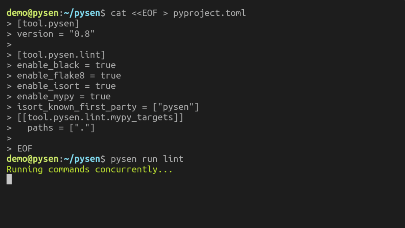 pysen is the new sempai: PFN's in-house tool for configuring and running Python linters and formatters